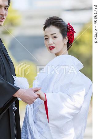 和装結婚式 新郎新婦 40861733