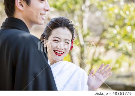 和装結婚式 新郎新婦 40861779