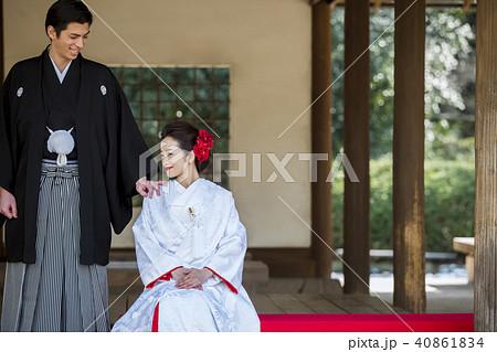 和装結婚式 新郎新婦 40861834