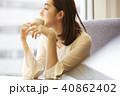 女性 ライフスタイル カフェの写真 40862402
