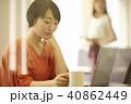 人物 女性 カフェの写真 40862449