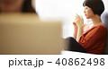人物 女性 カフェの写真 40862498
