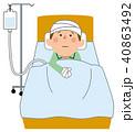 損害保険 事故で入院 40863492