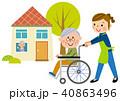 損害保険 シニア夫婦 介護保険イメージ  40863496