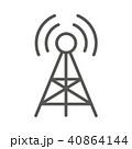 アイコン アンテナ 鉄塔のイラスト 40864144