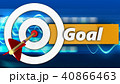 3d white taget with goal sign 40866463