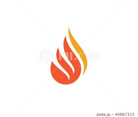 fire flame logo template vectorのイラスト素材 40867315 pixta