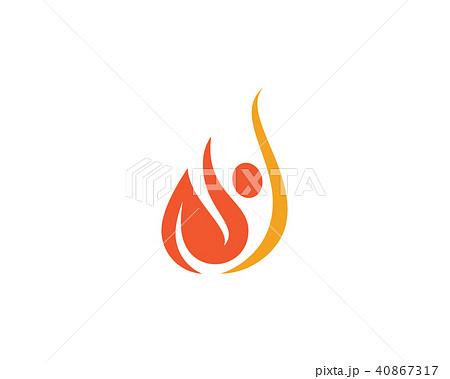 fire flame logo template vectorのイラスト素材 40867317 pixta
