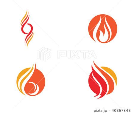 fire flame logo template vectorのイラスト素材 40867348 pixta