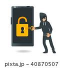 ハッカー モバイル フォンのイラスト 40870507