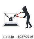 ハッカー セキュリティ セキュリティーのイラスト 40870516
