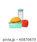 ハンバーガー りんご アップルのイラスト 40870670