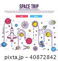土星 宇宙船 宇宙のイラスト 40872842