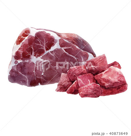 Watercolor meat composition 40873649