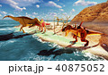 3D rendering scene of the giant dinosaur 40875052