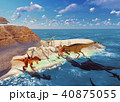 3D rendering scene of the giant dinosaur 40875055