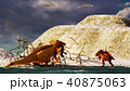 3D rendering scene of the giant dinosaur 40875063
