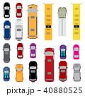 四輪車 自動車 バスのイラスト 40880525