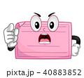 マスコット 縁起物 桃色のイラスト 40883852