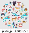 Pets flat illustration sticker concept. Wildlife  40886270