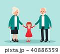 ファミリー 家庭 家族のイラスト 40886359