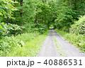 砂利道 道 一本道の写真 40886531