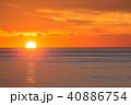 夕日 日没 海の写真 40886754