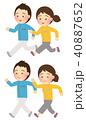ジョギング ウォーキング カップルのイラスト 40887652