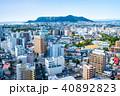 函館市の街並みと函館山 (五稜郭タワーからの眺望)  ※2017年10月撮影 40892823