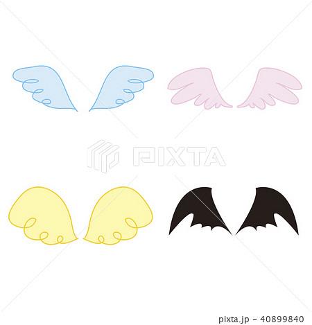 色々な羽翼のイラスト素材 40899840 Pixta