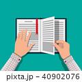 ベクトル 書籍 オープンのイラスト 40902076