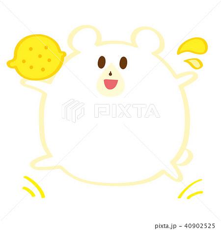はじけるレモンとシロクマ 夏のフルーツ 40902525