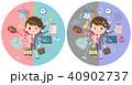 女性 マルチタスク テキパキのイラスト 40902737