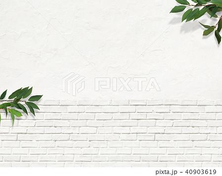 背景-白壁-葉 40903619