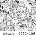 輪郭 パターン 柄のイラスト 40904106