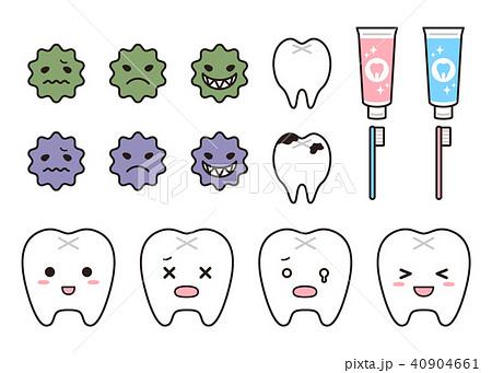 歯と虫歯と歯磨きのパーツセット 40904661