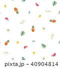 トロピカル 熱帯 パイナップルのイラスト 40904814