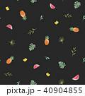 トロピカル 熱帯 パイナップルのイラスト 40904855