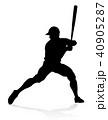 ベースボール 白球 野球のイラスト 40905287