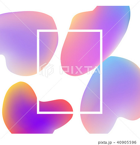 vector trendy vibrant gradient background templateのイラスト素材