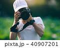 カメラマン フォトグラファー 女性の写真 40907201