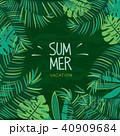 トロピカル 背景 夏のイラスト 40909684