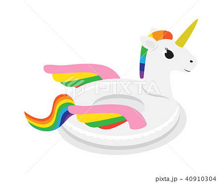 Unicorn inflatable float circle for swimming pool 40910304
