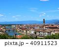 フィレンツェ アルノ川 ヴェッキオ橋の写真 40911523