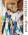 遊園地 人物 レース 40913310