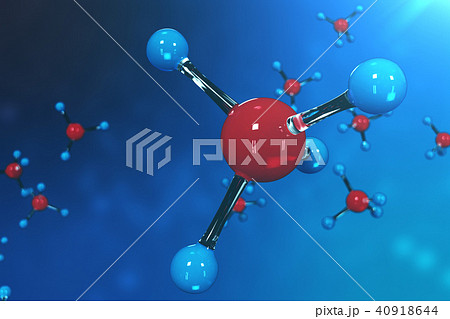 3D rendering molecules. Atoms bacgkround. Medical background for banner or flyer. Molecular 40918644