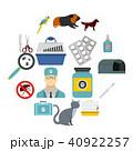 組み合わせ 獣医 フラットのイラスト 40922257
