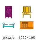 家具 イコン セットのイラスト 40924105