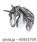 ユニコーン 馬 動物のイラスト 40933709