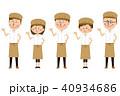 店員 スタッフ 男女のイラスト 40934686